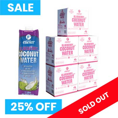 Blueberry Coconut Water 5 boxes 1 Litre Tetra Packs