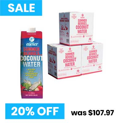 Summer Berries Coconut Water 3 boxes of 1 Litre Tetra Packs