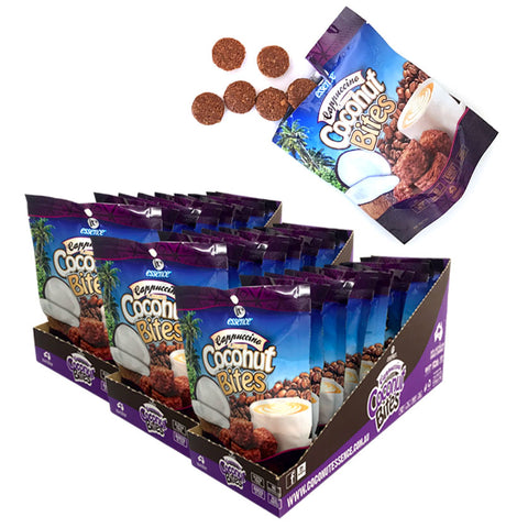 Coconut Snacks Cappuccino Coconut Bites 30 x 40g Packets