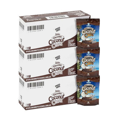 Month Supply Chocolate Coconut Chips 30x 40 g Coconut Snacks