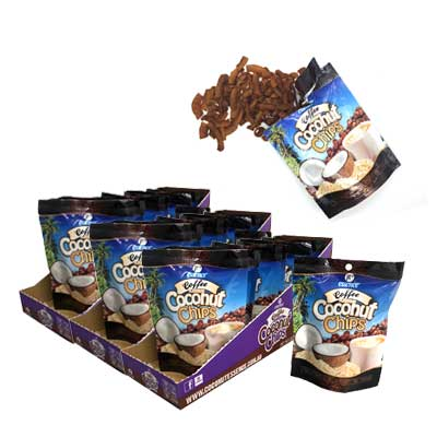 Coconut Snacks Coffee Coconut Chips 30 x 40g Packets