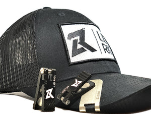Black Lid: Adjustable Snapback Lid Rig Logo Hats