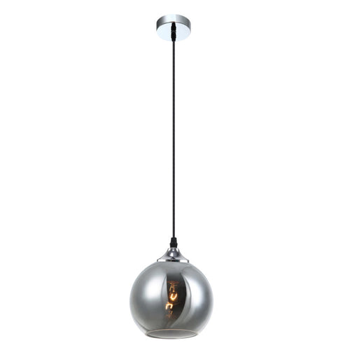 Rogodo hanglamp, 1 x E27, smokey glass - Lichtweelde
