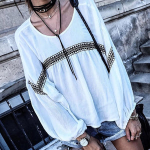 Clamez Casual Round Neck Long Sleeve Printed Loose Sweatshirt