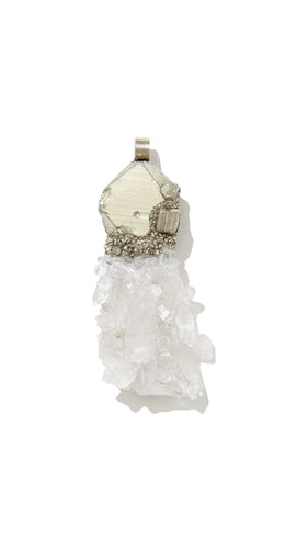 Crystal Quartz Necklace | Balance - Siembra Heritage