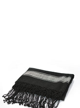 Load image into Gallery viewer, El Pidio Wrap | Black w/ Cream Stripe | Sheep - Siembra Heritage