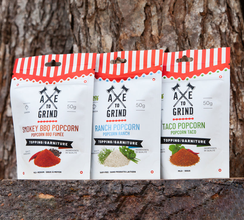 Popcorn Toppings and Gift Packs