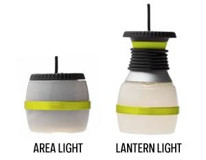LAL350 in area and lantern modes