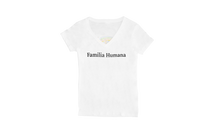 Load image into Gallery viewer, Familia Humana Women's V-neck T-shirt