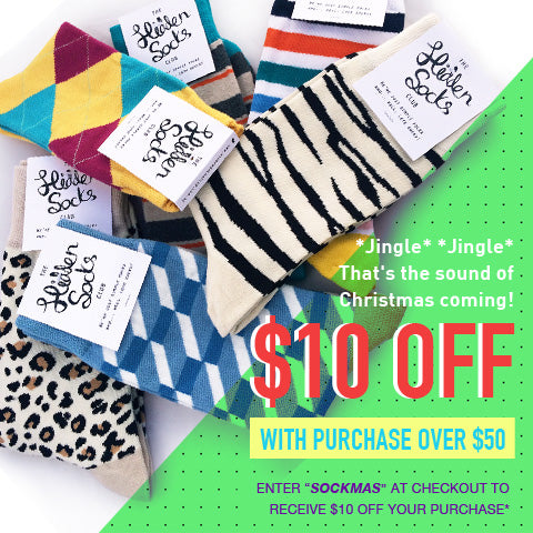 $10 off cool funky novelty christmas socks