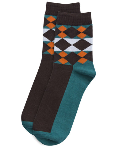 Argyle blue socks