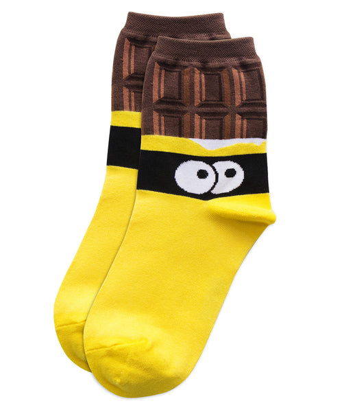 funky chocolate socks design