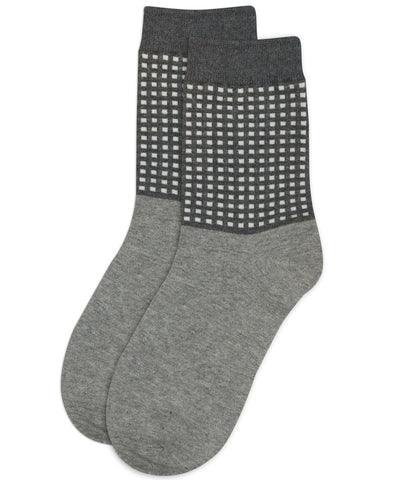 Grid Grey Socks