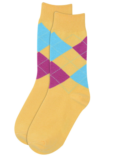 Argyle Yellow Socks