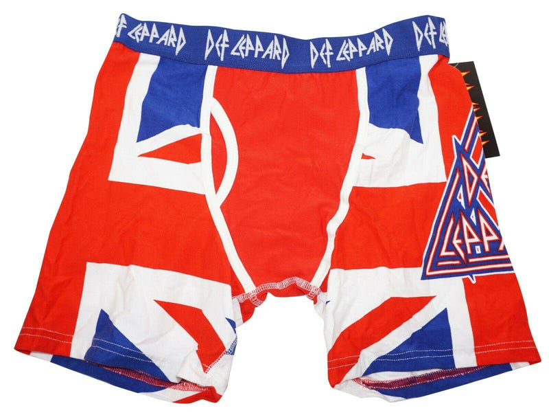 DEF LEPPARD ROCK BAND MENS UNDERWEAR SMALL - BOXER BRIEFS S RED WHITE BLUE NEW - EZ Monster Deals