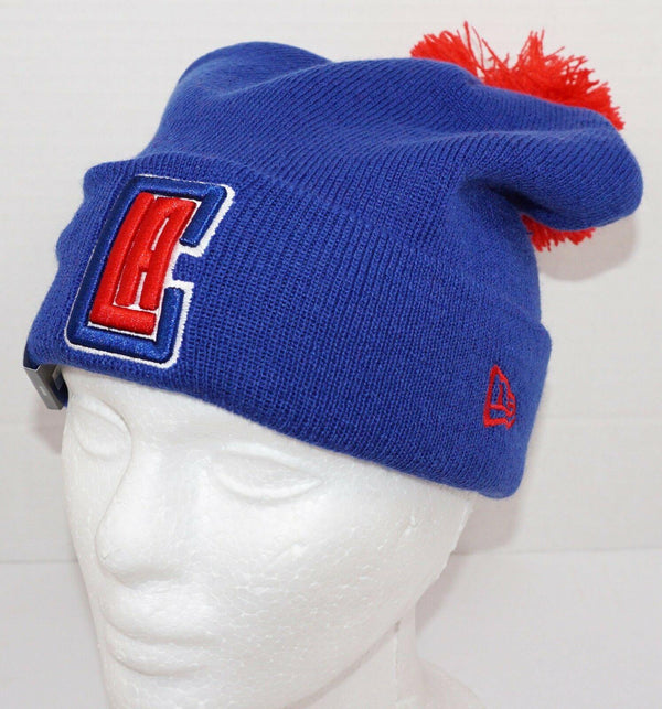 NEW ERA LOS ANGELES LA CLIPPERS - NBA BASKETBALL SPORT POM KNIT WINTER BEANIE-EZ Monster Deals