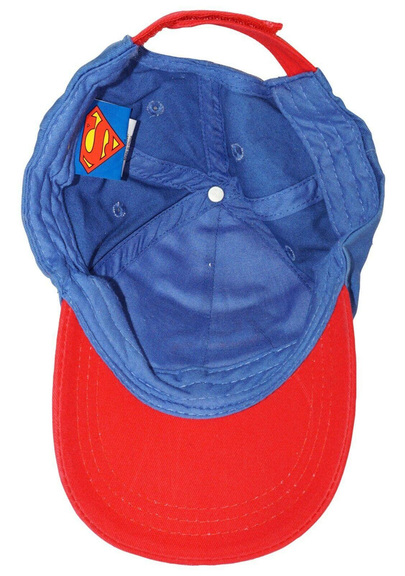 SUPERMAN DC COMICS HEROES - YOUTH CAP W/ EMBROIDERED LOGO KIDS HAT 2016 USED - EZ Monster Deals