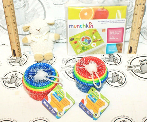 4 LOT - BABY CLOUD-B SLEEP SHEEP RATTLE SESAME STREET STACKING CUP GAME FOOD MAT - EZ Monster Deals