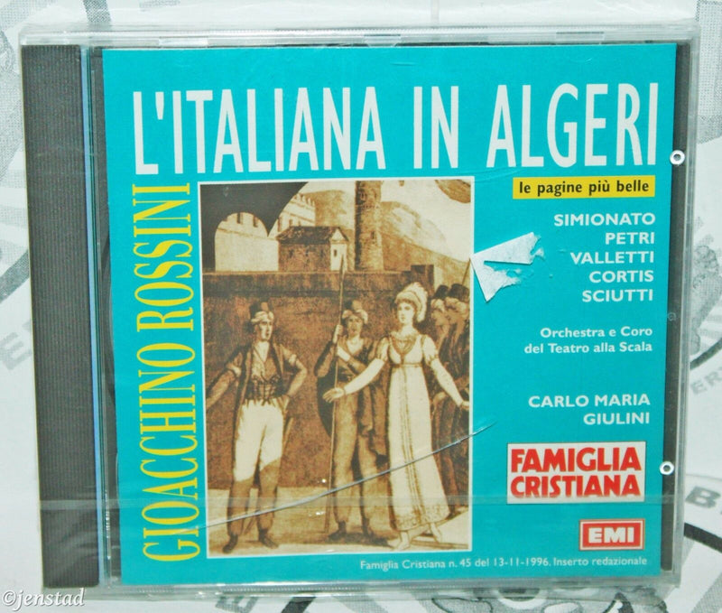 VERDI ROSSINI L'ITALIANA IN ALGERI FAMIGLIA CRISTIANA MUSIC CD ITALIAN VERSION-EZ Monster Deals