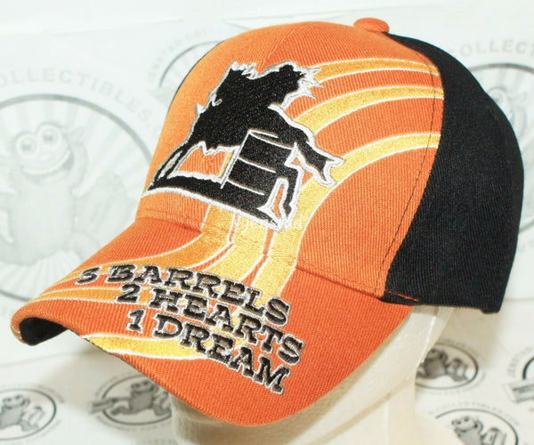 BARREL HORSE RIDING - 3 BARRELS 2 HEARTS 1 DREAM LOGO CAP HAT ONE SIZE UNISEX-EZ Monster Deals