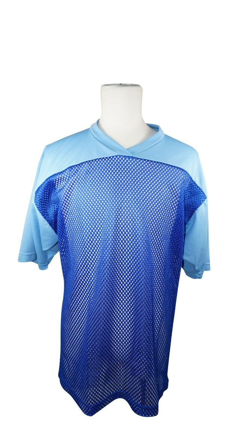 XTREME BASICS SR S LACROSSE OR BALL ROLLER HOCKEY BLUE JERSEY - ADULT SMALL USED - EZ Monster Deals