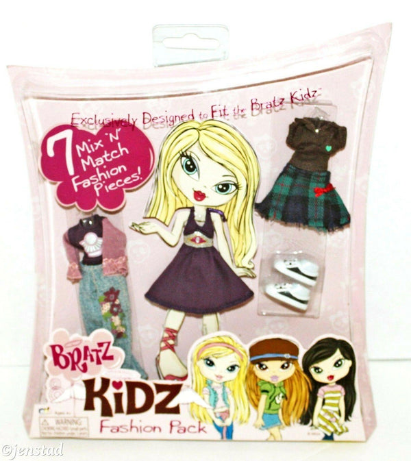 BRATZ KIDZ 7 MIX N MATCH FASHION PACK CLOTHING FOR TOY DOLL FIGURES CLOTHES - EZ Monster Deals