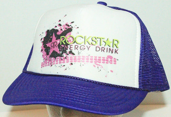 ROCKSTAR ENERGY DRINK - NISSUN TRUCKER SNAPBACK BASEBALL CAP HAT PURPLE NEW - EZ Monster Deals