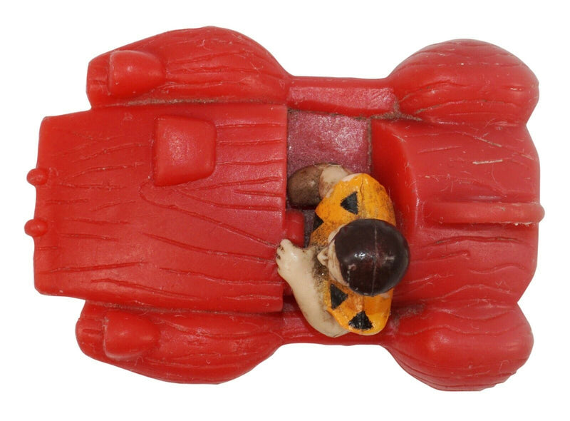 "FRED'S RED CAR 2"" VEHICLE - FROM FLINTSTONES MOVIE PROMO TOY USED 1994 - EZ Monster Deals"