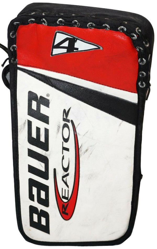 OG BAUER REACTOR 4 SR GOALIE BLOCKER - SENIOR GOAL ICE ROLLER HOCKEY USED 1990s-EZ Monster Deals