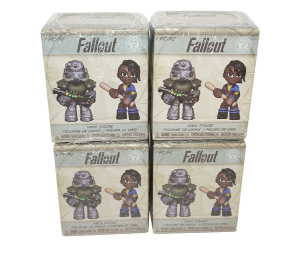 "4 PC LOT FALLOUT 2.75"" TOY FUNKO VINYL BLIND BOX RANDOM SERIES 2 FIGURE 2018 NEW"
