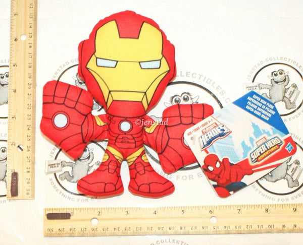 "IRON MAN MARVEL SUPER HERO ADVENTURES PLAYSKOOL 6.75"" PLUSH TOY FIGURE 2015 NEW-EZ Monster Deals"
