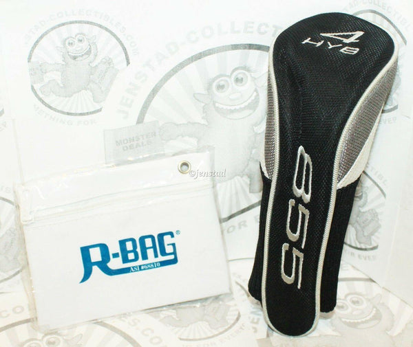 HYB 855 CLUB 4 PROTECTIVE COVER GOLF HEADCOVER & R-BAG POUCH HYBGOLF USED - EZ Monster Deals