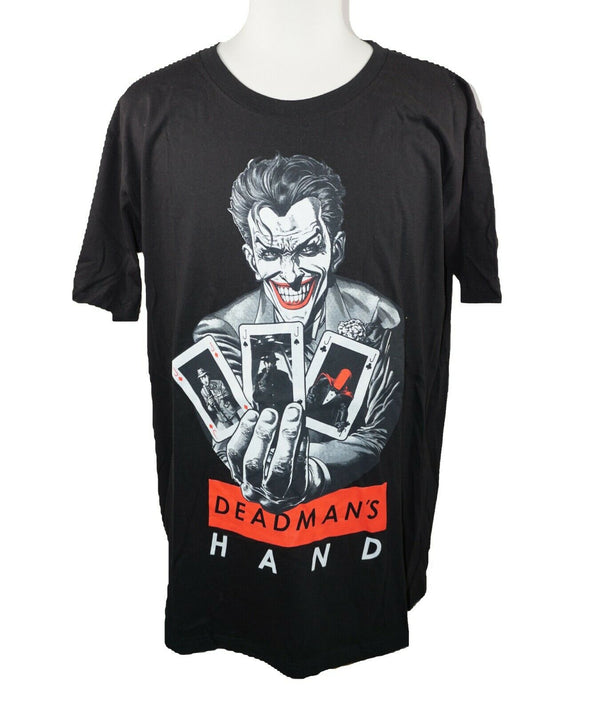 Joker Dead Mans Hand DC Comics Tee Shirt from Batman - Black T-shirt Large 2018