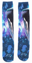 DOCTOR WHO PHONE BOOTH - LONG SOCKS BBC ADULT 6-12 OS STYLE