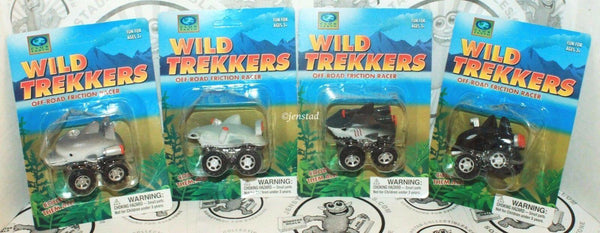 4 LOT - WILD TREKKERS OFF ROAD FRICTION RACER TOY DOLPHIN, WHALE, & SHARKS 2016 - EZ Monster Deals