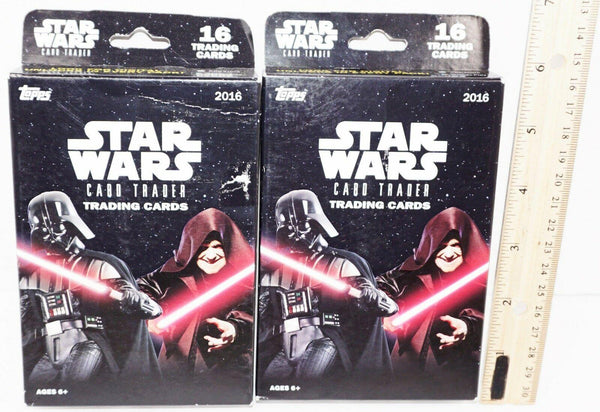 2 LOT - STAR WARS CARD TRADER - TOPPS TRADING CARDS NEW 2014