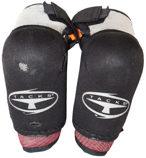 "CCM 652 TACKS JUNIOR KIDS MEDIUM ELBOW GUARD HOCKEY PADS USED VINTAGE 4'6""-4'10"" - EZ Monster Deals"