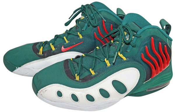 NIKE FLIGHT ZOOM AIR MID TOP 641333-300 GREEN MENS SHOE 10.5 - NO BOX USED