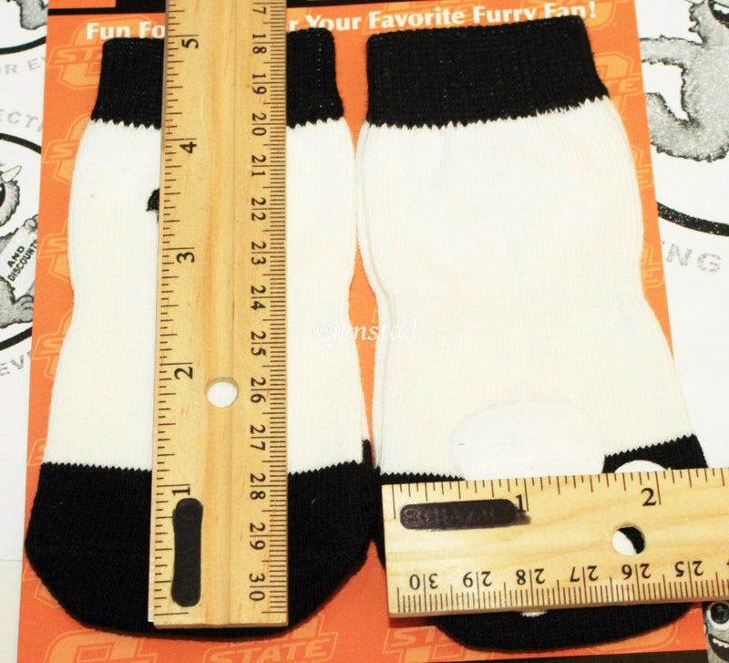 ONE PACK OF 4 DOG PET SOCKS - TEAM PAWS NCAA OKLAHOMA STATE UNIVERSITY LARGE NEW - EZ Monster Deals
