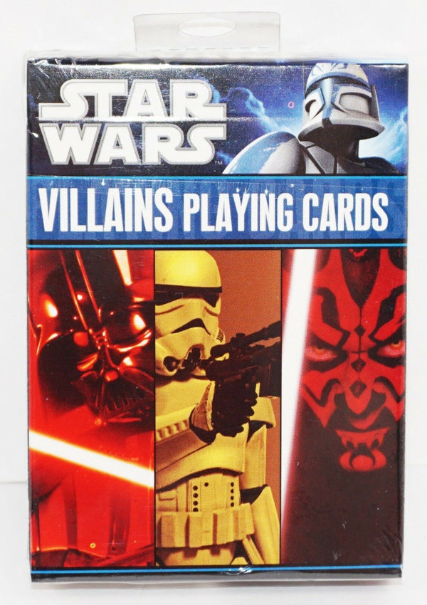 DISNEY STAR WARS - MULTIPLE CHARACTERS VILLAINS PLAYING CARDS CARTAMUNDI 2011 - EZ Monster Deals