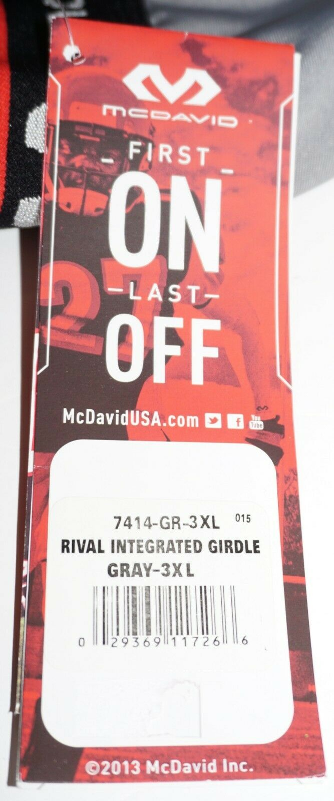 MCDAVID RIVAL SHORT SR 3XL - GIRDLE & HARD-SHELL THIGH GUARDS HIP PADS 46-50 NEW - EZ Monster Deals