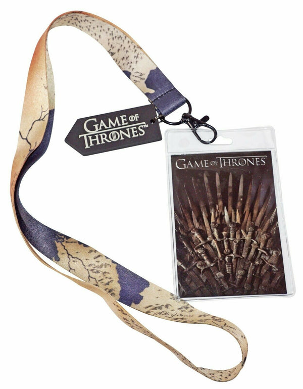 "GAME OF THRONES - GOT LOGO TV FAN 22.5"" LANYARD + CHARM + ID HOLDER NEW 2017-EZ Monster Deals"