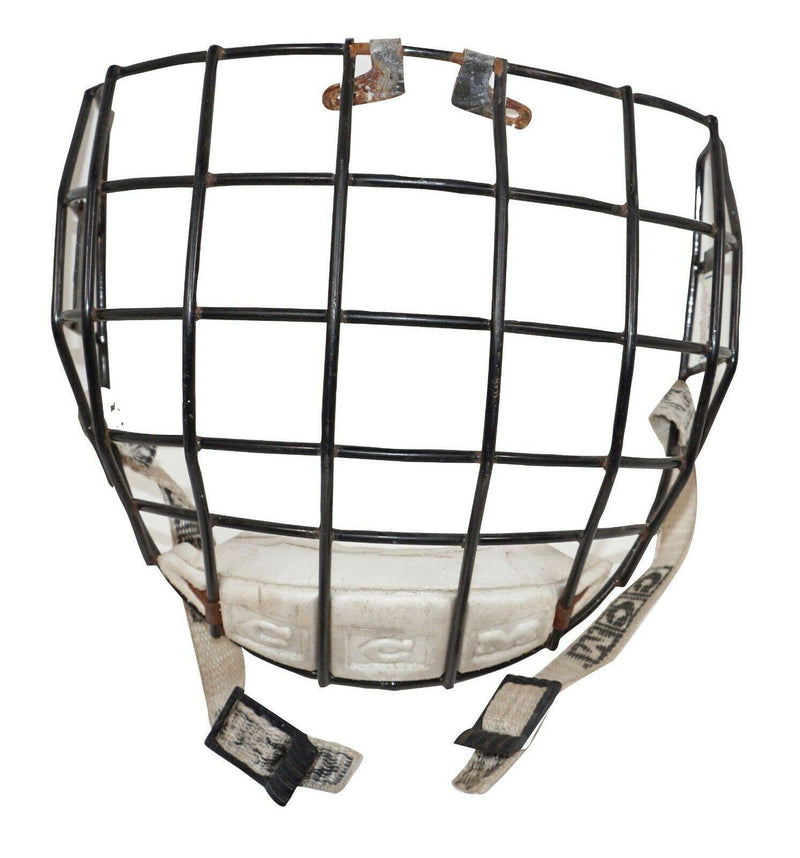 CCM FACE BLACK CAGE + CHIN CUP SR S/M TYPE 1 - FOR ADULT HOCKEY HELMET USED 00s - EZ Monster Deals