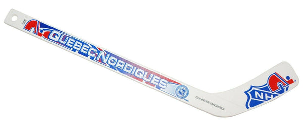 "QUEBEC NORDIQUES WHITE MINI NHL HOCKEY 17"" STICK COLLECTIBLE OR FOR INDOOR 2016 - EZ Monster Deals"
