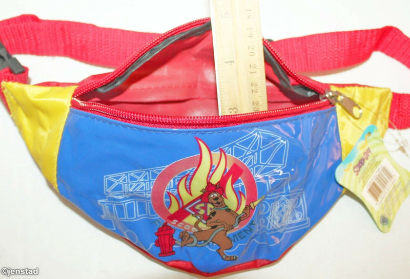 SCOOBY DOO FIRE DEPARTMENT CARTOON NETWORK FANNY WAIST PACK HIP ORGANIZER 2005 - EZ Monster Deals