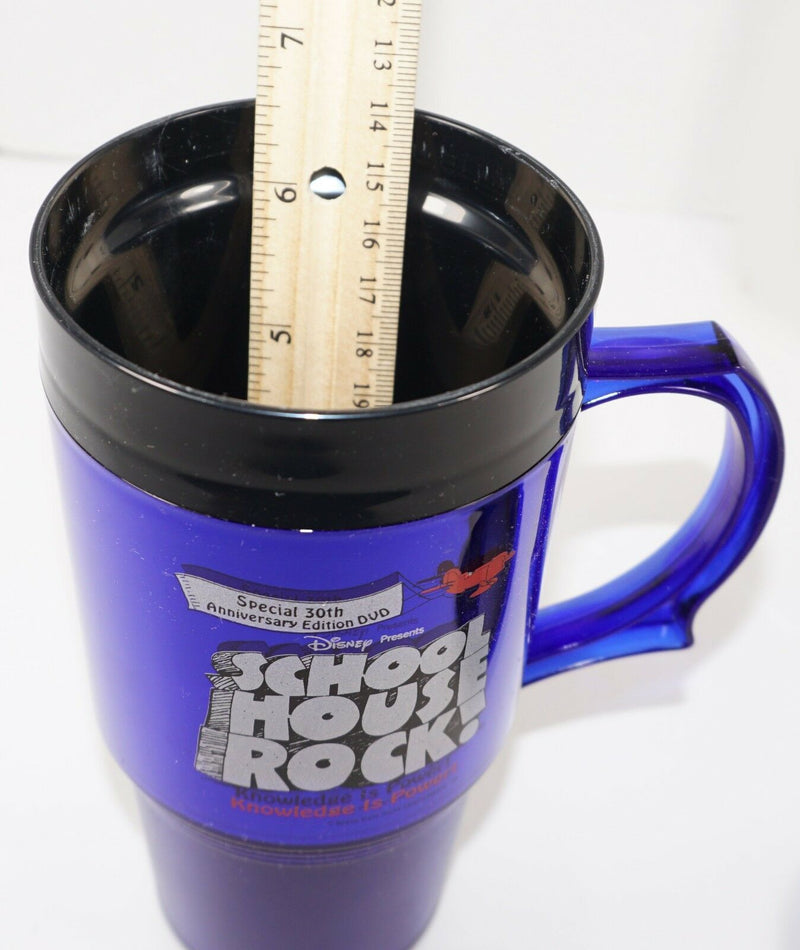 TRAVEL CUP SCHOOL HOUSE ROCK - PROMO MUG RELEASE 30TH ANNIVERSARY EDITION 2002-EZ Monster Deals