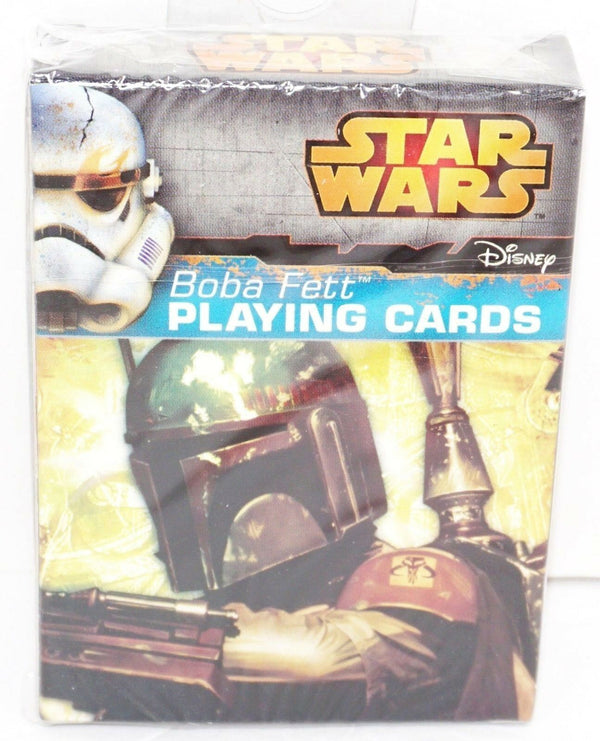 BOBA FETT - BOUNTY HUNTER DISNEY STAR WARS VILLAIN PLAYING CARDS NEW CARTAMUNDI - EZ Monster Deals