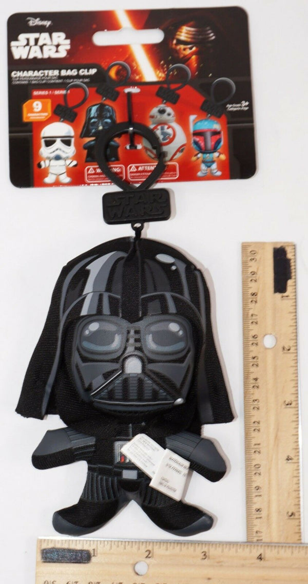 "DARTH VADER DISNEY STAR WARS -  5.25"" PLUSH TOYS BAG CLIP-ON SERIES 1 NEW - EZ Monster Deals"