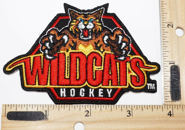 WILDCATS DEFUNCT YOUTH ICE HOCKEY TEAM PATCH LOGO RIVERSIDE CALIFORNIA USED - EZ Monster Deals