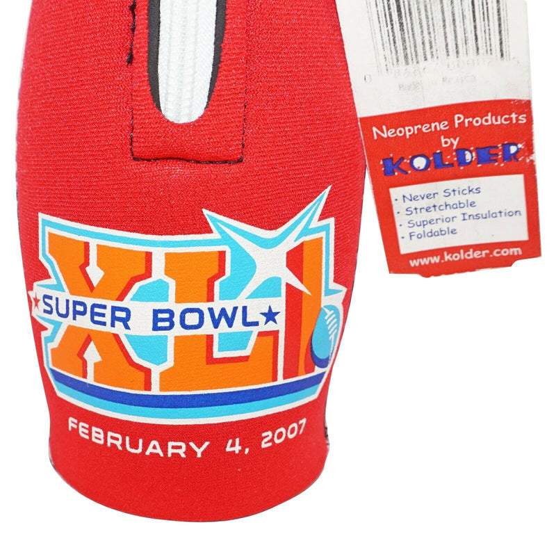 NFL FOOTBALL SUPERBOWL XLI FEB. 4, 2007 - NEOPRENE BOTTLE KOOZIE HOLDER OFFICIAL - EZ Monster Deals